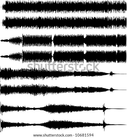Vector illustration of audio waves