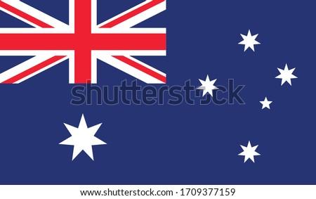 vector illustration of Australia flag