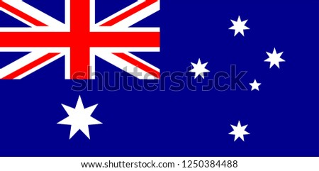 Vector illustration of Autralian national flag. Australia flag, official colors and proportion correctly. National Australia flag. Flat vector illustration. EPS10.