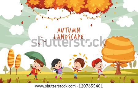 vector illustration of autumn