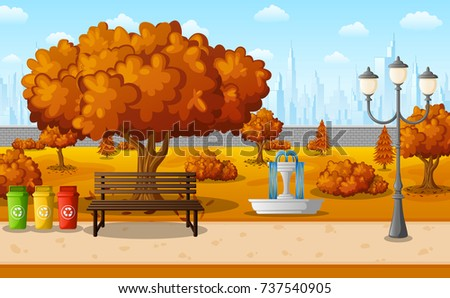 vector illustration of autumn