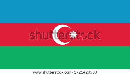 vector illustration of Azerbaijan flag sign symbol