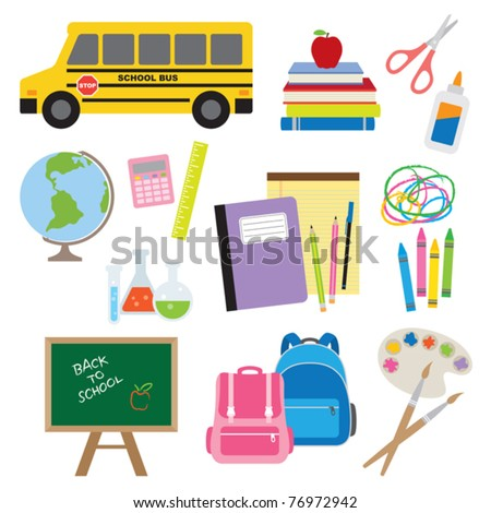 Vector illustration of Back to School supplies.