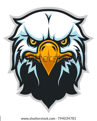 Vector illustration of bald eagle head. Can be used as mascot.