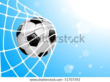 vector illustration of ball in net - Shutterstock ID 51707392