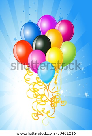 birthday party balloons decoration. alloons decoration ready