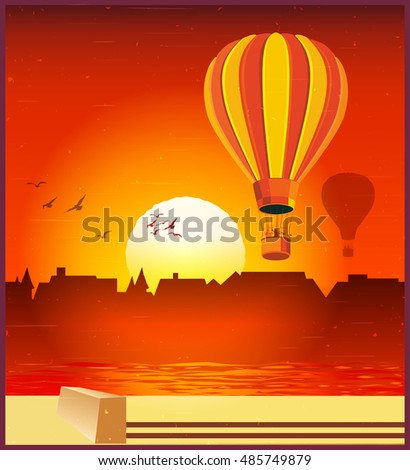 vector illustration of balloons