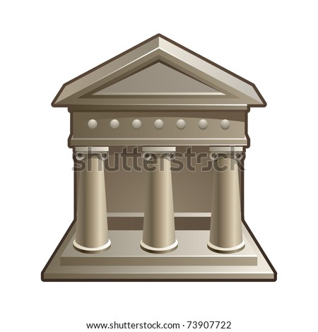 Vector illustration of bank icon