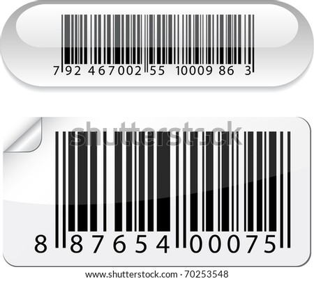 Vector illustration of barcode buttons.