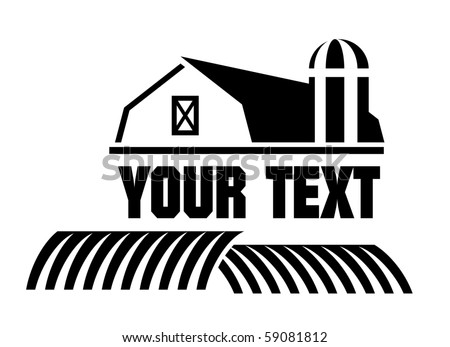 Vector illustration of Barn and farm icon