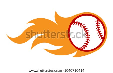 stock-vector-vector-illustration-of-baseball-ball-with-simple-flame-shape-ideal-for-sticker-decal-sport-logo