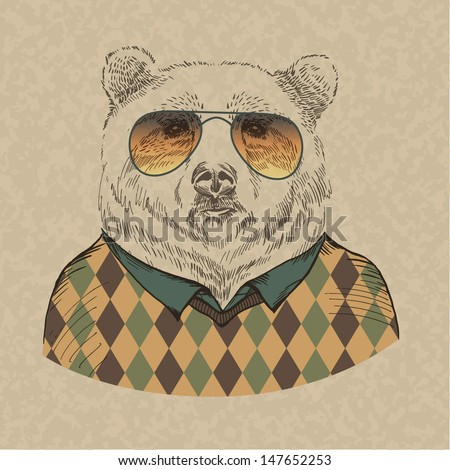 vector illustration of bear