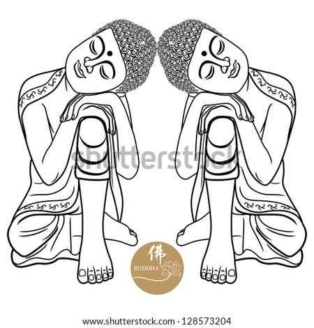 Vector illustration of beautiful buddha design.