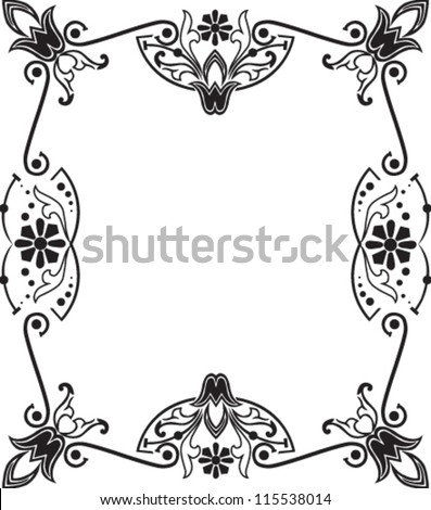 Vector illustration of beautiful floral frame
