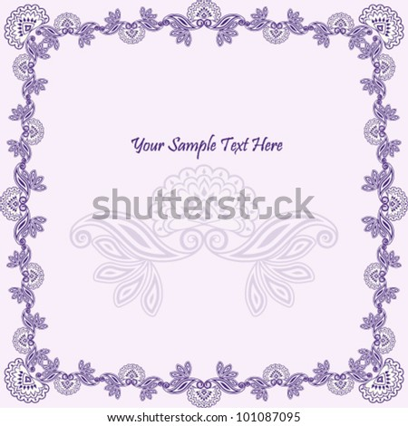 Vector illustration of beautiful purple asian design