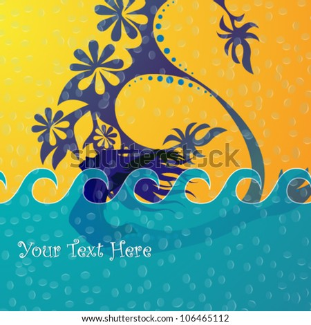 Vector illustration of beautiful swimming mermaid