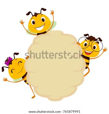 vector illustration of bee on