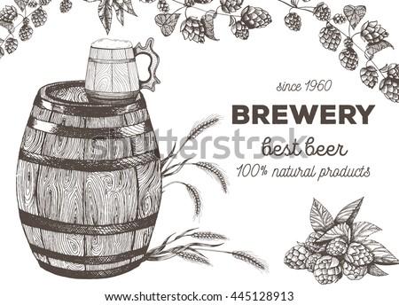 vector illustration of beer