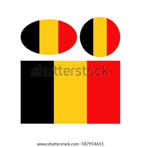 vector illustration of belgium