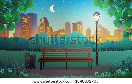 vector illustration of bench