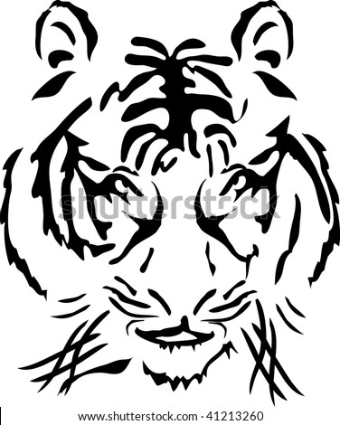 Vector illustration of bengal tiger head