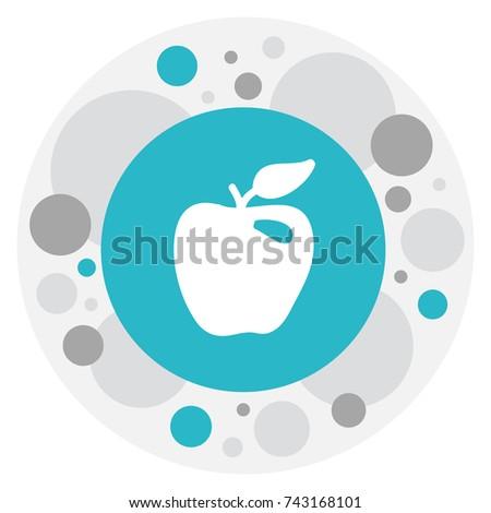 Vector Illustration Of Berry Symbol On Braeburn  Icon. Premium Quality Isolated Honeycrisp  Element In Trendy Flat Style.