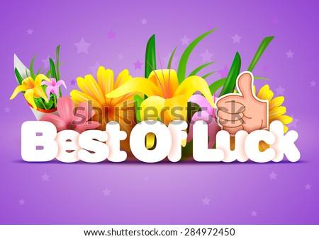 vector illustration of Best of Luck wallpaper background
