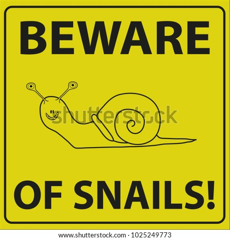vector illustration of beware