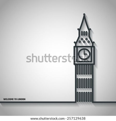 vector illustration of big ben