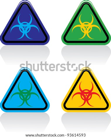 Vector illustration of biohazard signs.