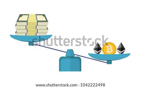 vector illustration of bitcoin