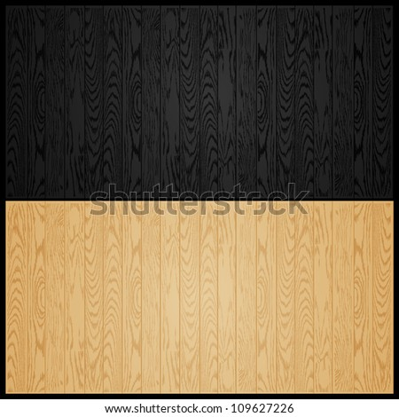 vector illustration of black and light wooden texture background