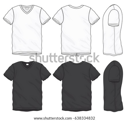 V Neck Shirt Template Free Vector Download Free Vector Art Stock