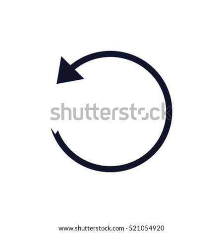 Vector illustration of black arrow icon