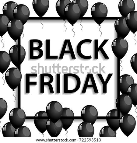 vector illustration of black frame for black friday sale