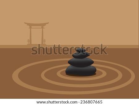 vector illustration of black