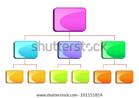vector illustration of blank hierarchy diamgram