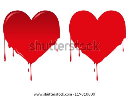 vector illustration of bleeding