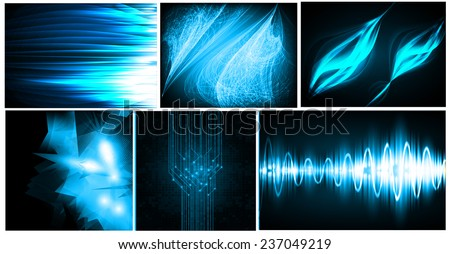 vector illustration of blue