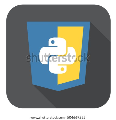 vector illustration of blue and yellow shield with html five badge, isolated web site development icon on white background