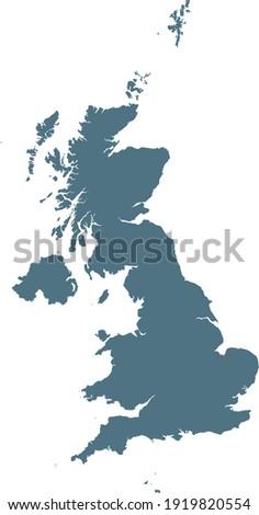 vector illustration of Blue map of United Kingdom Foto stock ©