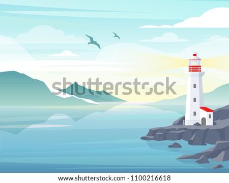 vector illustration of blue sea
