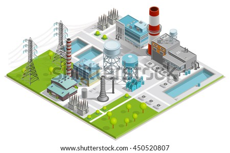 vector illustration of boiler