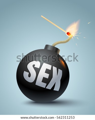 vector illustration of bomb and