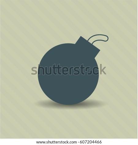 vector illustration of bomb