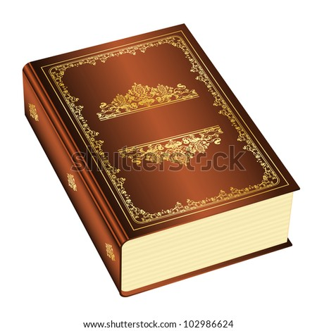 Vector illustration of book with space for your text