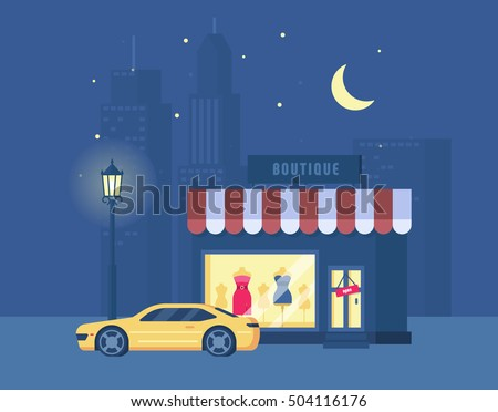 vector illustration of boutique