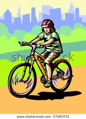 vector illustration of boy