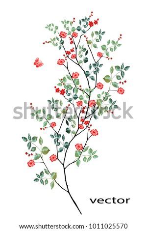 vector illustration of branch
