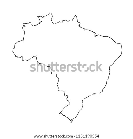 vector illustration of Brazil map